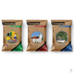"Image of three sweet bag designs featuring our ""Quality of Life"" illustrations."