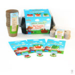 Image of Green Fingers kids vegetable growing kit packaging.