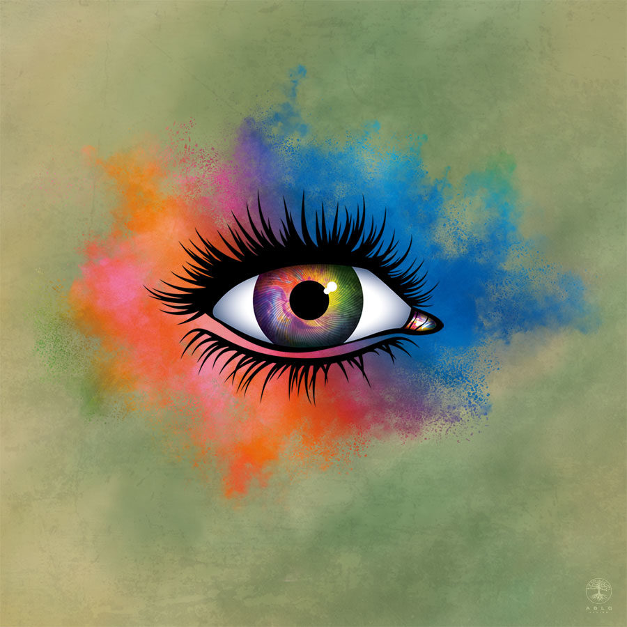 Vector Illustration of an abstract eye.