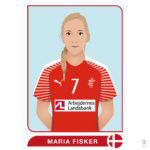 Vector illustration of the Danish handball player Maria Fisker.