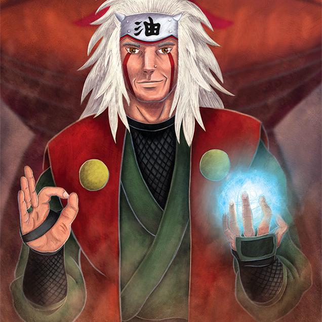 A digital Illustration of Naruto character Jiraiya.